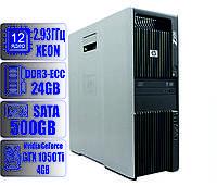 Рабочая станция HP Z600/12-ядер по 2,93GHz/24Gb-DDR3/HDD 500Gb/Geforce GTX 1050Ti