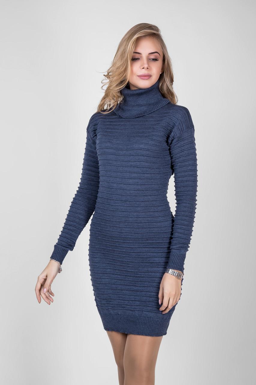 7766aad1b5f Вязаное платье с горлом с 44 по 48 размеры 4цвета - Интернет-магазин