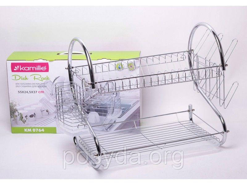 Сушилка для посуды Kamille KM0764 - 55*24,5*36см