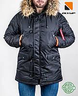 Парка аляска мужская / куртка до -35*, черная