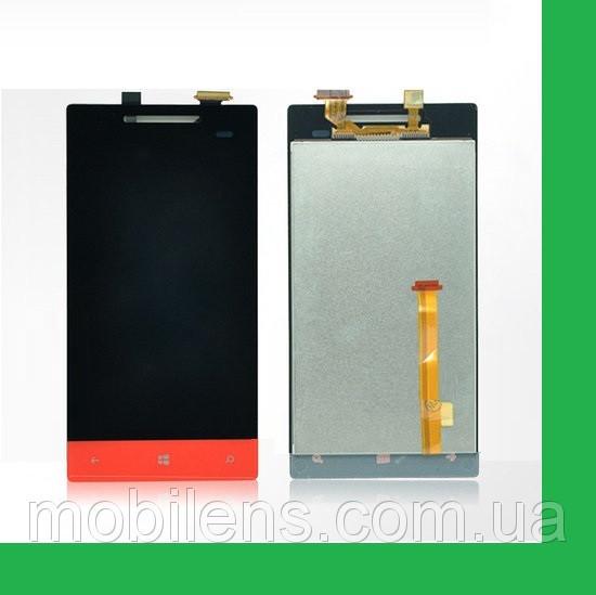 HTC A620e, A620t 8S Rio Дисплей+тачскрин(сенсор) красный (оранжевый)