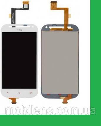 HTC C520e, One SV, T528t Дисплей+тачскрин(сенсор) белый, фото 2