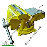 Тиски слесарные  стальные поворотные 125 мм х 115 мм лещата слюсарні