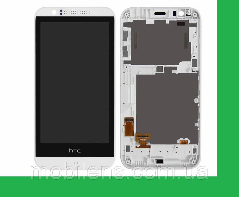 HTC Desire 510, HTC 510 Дисплей+тачскрин(сенсор) в рамке белый