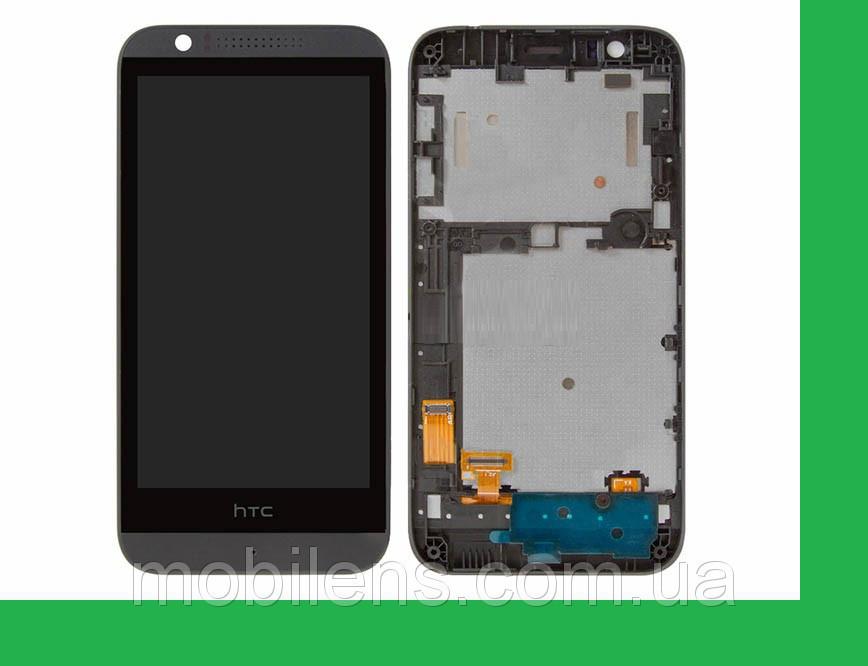 HTC Desire 510, HTC 510 Дисплей+тачскрин(сенсор) в рамке черный