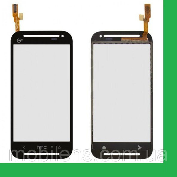 HTC Desire 608t, HTC 608t Тачскрин (сенсор) чёрный