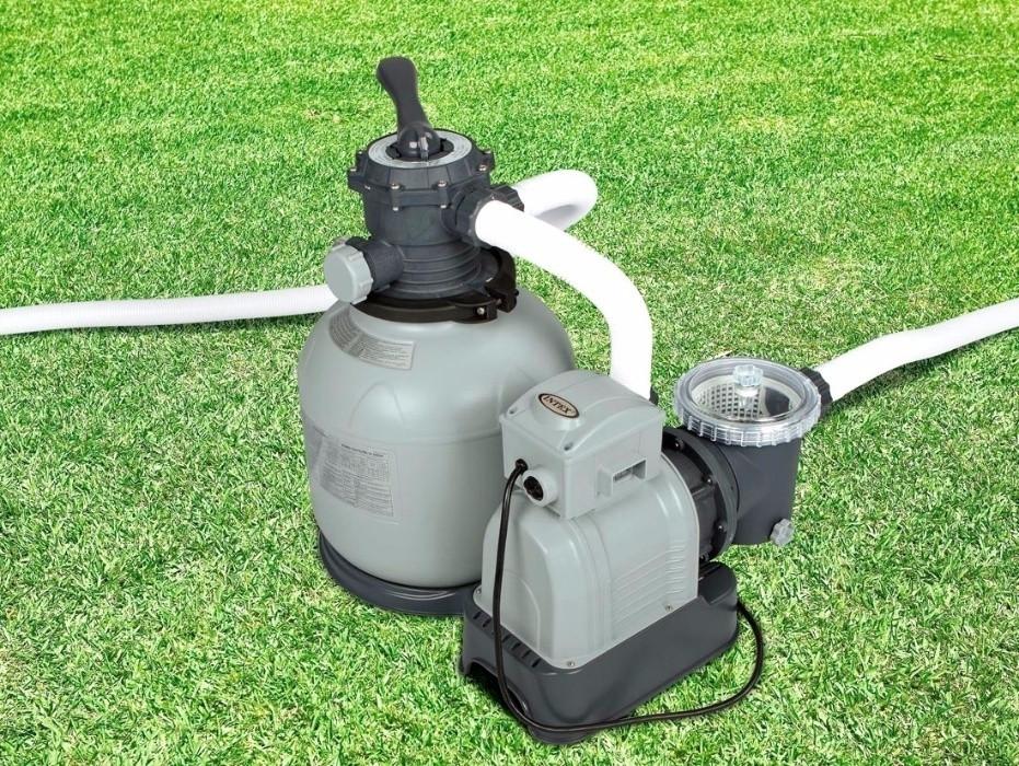 Песочный фильтрующий насос Intex для бассейна на 10000 л.ч. Фильтр для бассейнов