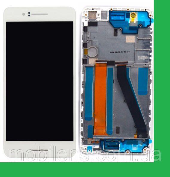 HTC Desire 728G, HTC 728G, 728G Dual Дисплей+тачскрин(сенсор) в рамке белый