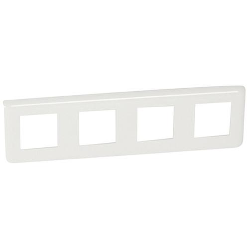 Купить Рамка для модулей 4х2 горизонтальная, Mosaic белый, Legrand
