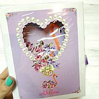 Блокнот детский на замочке в коробке  Фламинго