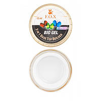 Прозрачный био-гель  Fox Bio gel (3 in 1 Base/Top/Builder) Объём: 15 мл