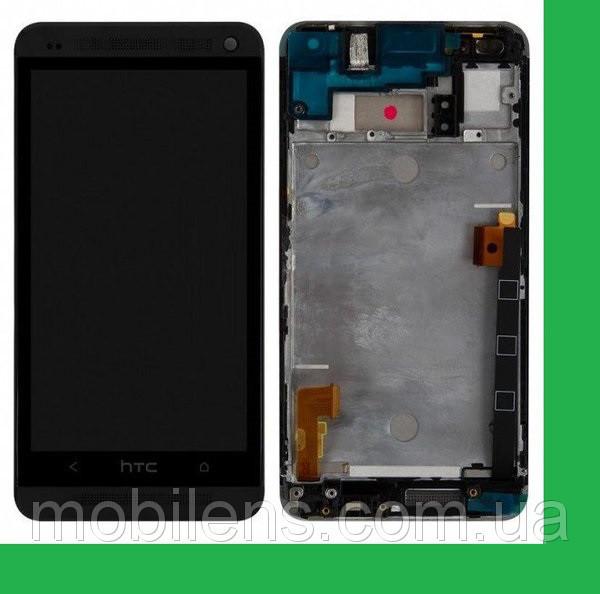 HTC One M7, 802w Dual, 802t, 802d, PN07710 Дисплей+тачскрин(сенсор) в рамке черный