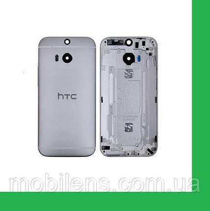 HTC One M8, One M8E Задняя крышка серая, фото 2
