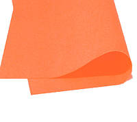 Фоамиран Зефирный Оранжевый 50х50 см, 1 мм Китай