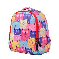Яркий детский рюкзак Забавные кошки, фото 1