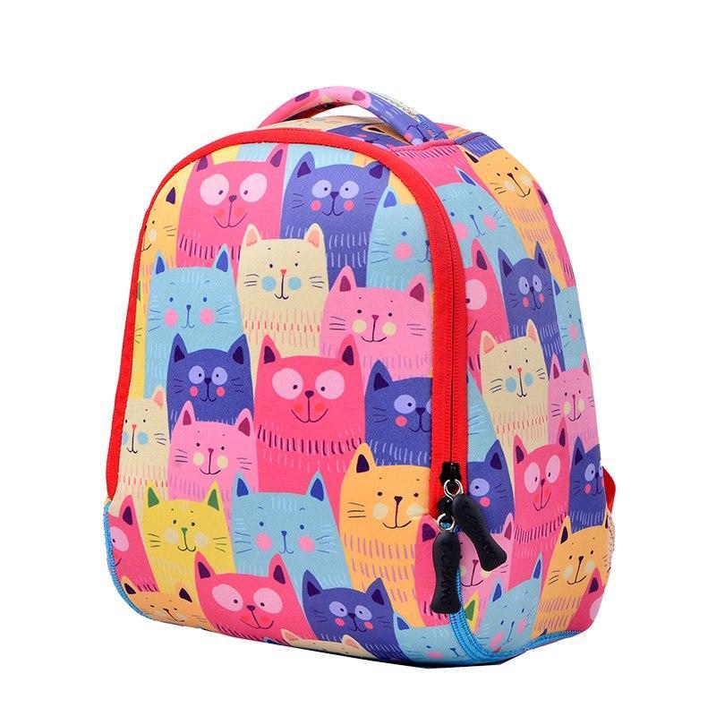 Яркий детский рюкзак Забавные кошки