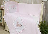 Защитный бампер (бортики) в кроватку Зайчик