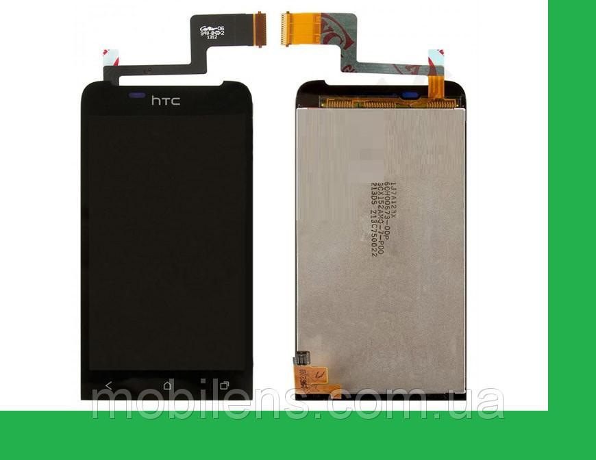 HTC T320e, One V, PK76100 Дисплей+тачскрин(сенсор) черный