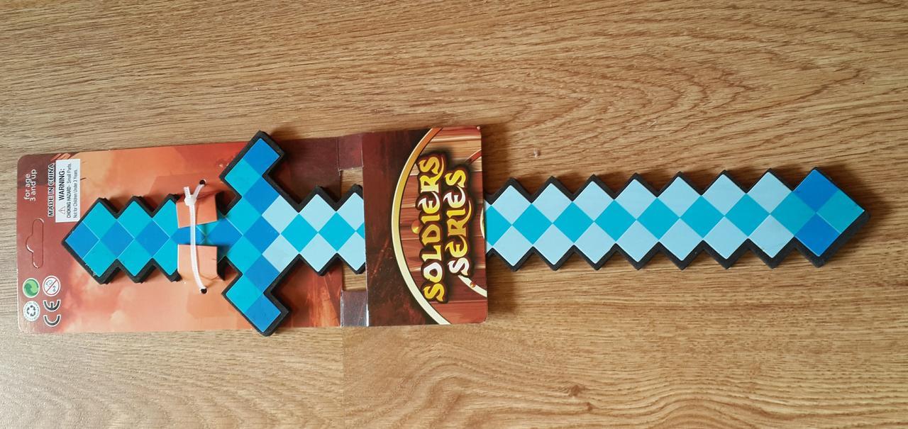 Игрушка Алмазный Меч Майнкрафт 16010 Minecraft. Длина 46 см. Безопасный