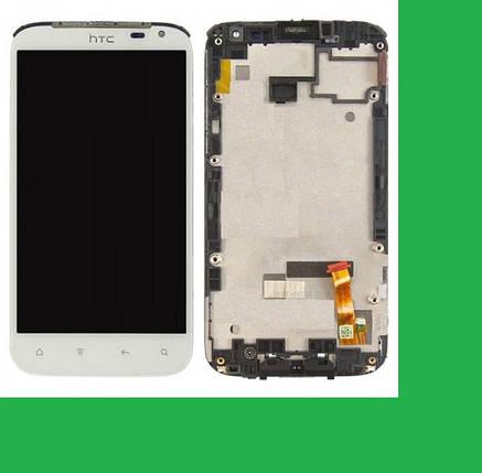HTC X315e, Sensation XL Дисплей+тачскрин(сенсор) в рамке белый, фото 2