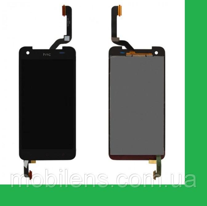 HTC X920e, Butterfly, (высота 141мм) Дисплей+тачскрин(сенсор) черный