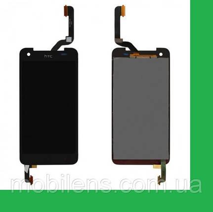 HTC X920e, Butterfly, (высота 141мм) Дисплей+тачскрин(сенсор) черный, фото 2
