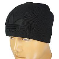 Однотонна чорна чоловіча шапка копія на Adidas A 18 black 4c1cca777b285