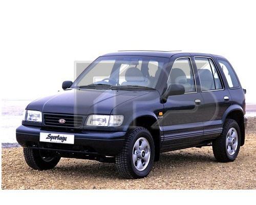 Боковое стекло задней двери Kia Sportage '94-03 правое (XYG)