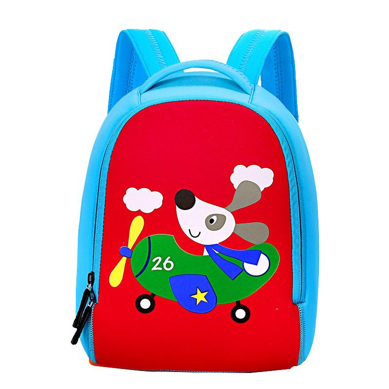 Детский рюкзак для мальчика с собакой на самолете