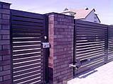 Распашные ворота жалюзи из ламелей 3000х2000 , фото 3