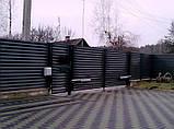 Распашные ворота жалюзи из ламелей 3000х2000 , фото 4