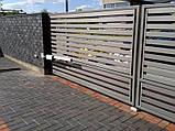Распашные ворота жалюзи из ламелей 3000х2000 , фото 2