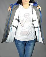 Тепла зимова жіноча парка Olymp -  Blue and Grey. ТОП ПРОДАЖІВ !!! , фото 1