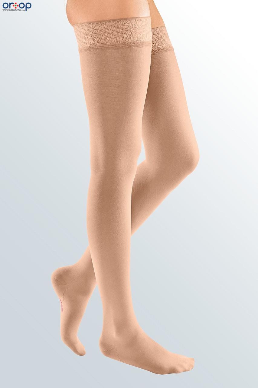 Чулки с кружевной резинкой mediven ELEGANCE (AG - 72 - 83 см) - I класс, закрытый носок, беж, 7