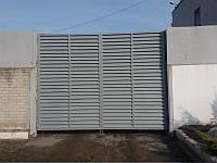 Распашные ворота жалюзи из ламелей 3500х2000 , фото 1