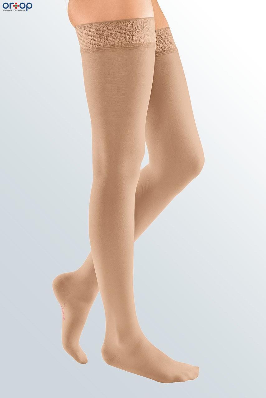 Чулки с широкой кружевной резинкой mediven ELEGANCE (AG - 72 - 83 см) - II класс, закрытый носок, беж, 1
