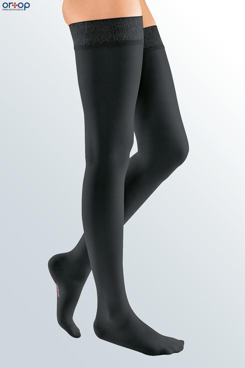 Чулки с широкой кружевной резинкой mediven ELEGANCE (AG - 62 - 71 см) - II класс, закрытый носок, черный, 1