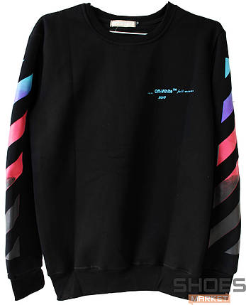 Свитшот Off-white Gradient 2019 Black (ориг.бирка), фото 2