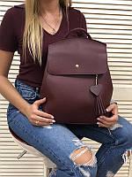 Бордовая женская сумка-рюкзак 44607 трансформер через плечо, фото 1