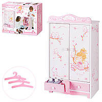 Деревянный шкаф для кукол DeCuevas