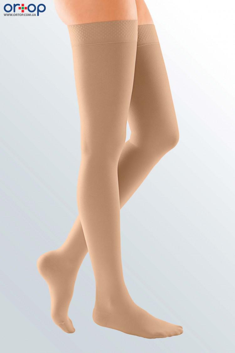 Чулки с силиконовой резинкой DUOMED (AG - 72 - 83 см) - I класс, закрытый носок, беж, S