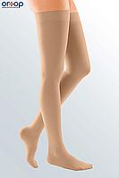 Чулки с силиконовой резинкой DUOMED (AG - 72 - 83 см) - I класс, закрытый носок, беж, S, фото 1
