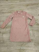Платье для девочки 8-12 лет персикового цвета травка оптом