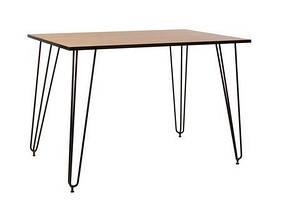 Стол Aller 120*80*75 Дуб каменный/Black (Новый стиль ТМ)