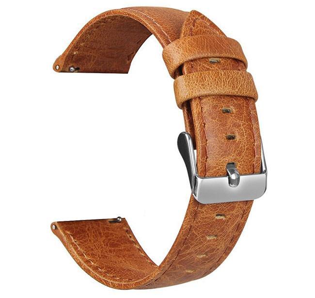Шкіряний ремінець для годинника Samsung Galaxy Watch 46 mm SM-R800 - Light Brown