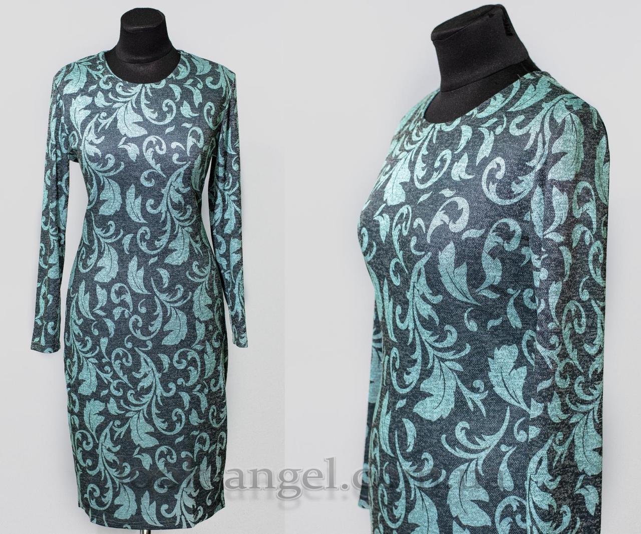 """Красивое женское платье ткань """"Ангора"""" 48, 50, 52, 54 размер батал"""