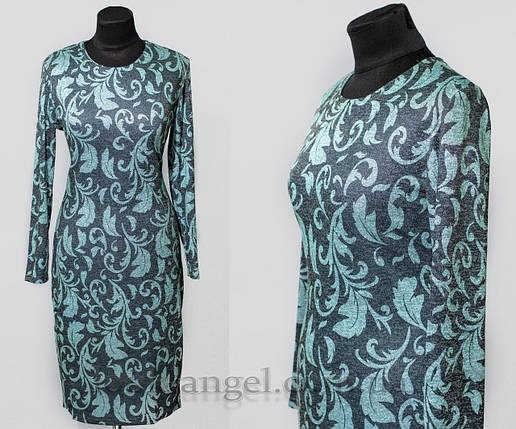 "Красивое женское платье ткань ""Ангора"" 48, 50, 52, 54 размер батал, фото 2"