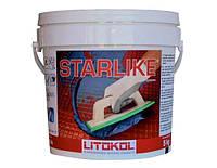 Litokol Starlike С.340 ведро 5 кг (нейтральный) - эпоксидная двухкомпонентная затирка Старлайк