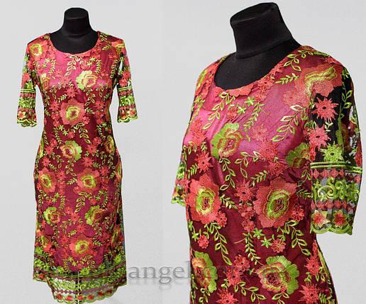 """Изящное женское платье ткань """"Фатин с подкладкой"""" 50, 52 размер батал, фото 2"""