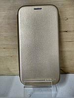 Чехол книжка под кожу золотой Samsung Galaxy S9 Plus (G965)